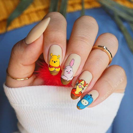Cute Winnie The Pooh Nails