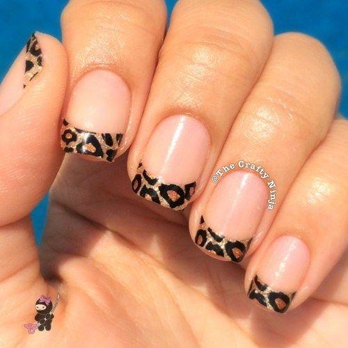 Short leopard print nails