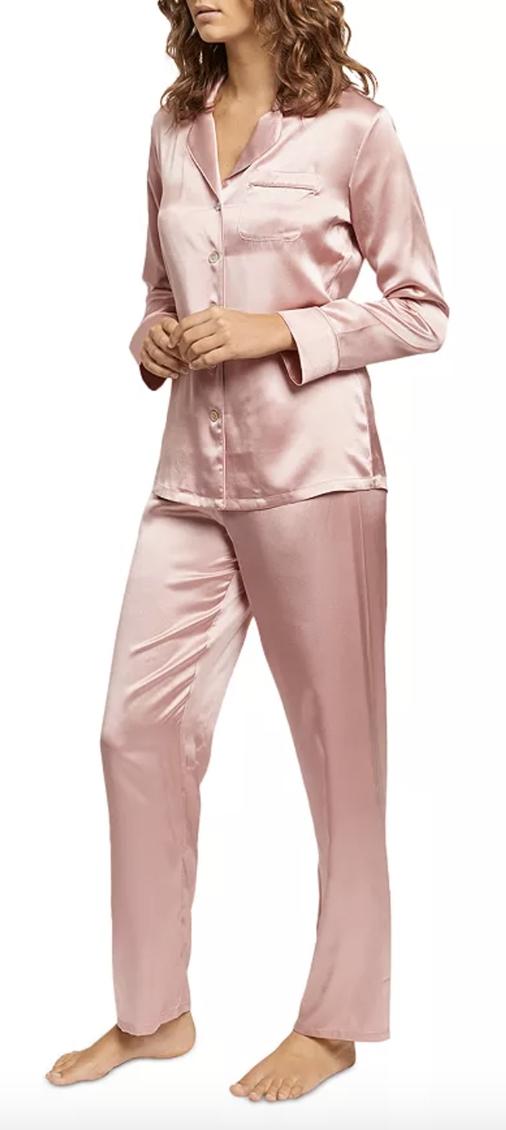 Cozy gifts for women: Silk pajamas