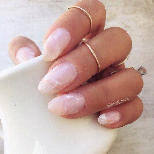 Cute pink acrylic nails
