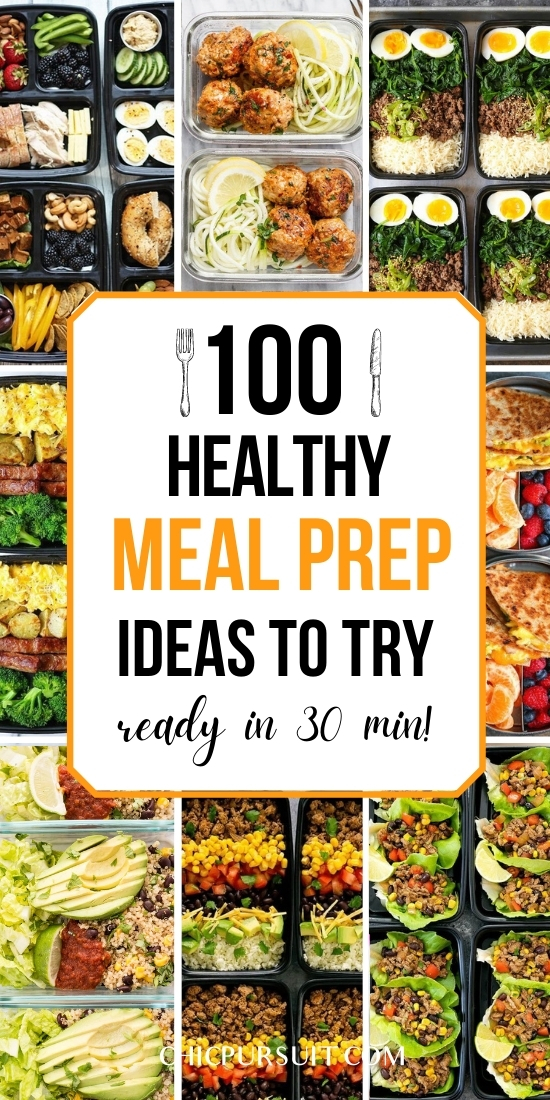 Easy and healthy meal prep recipes and ideas for weight loss