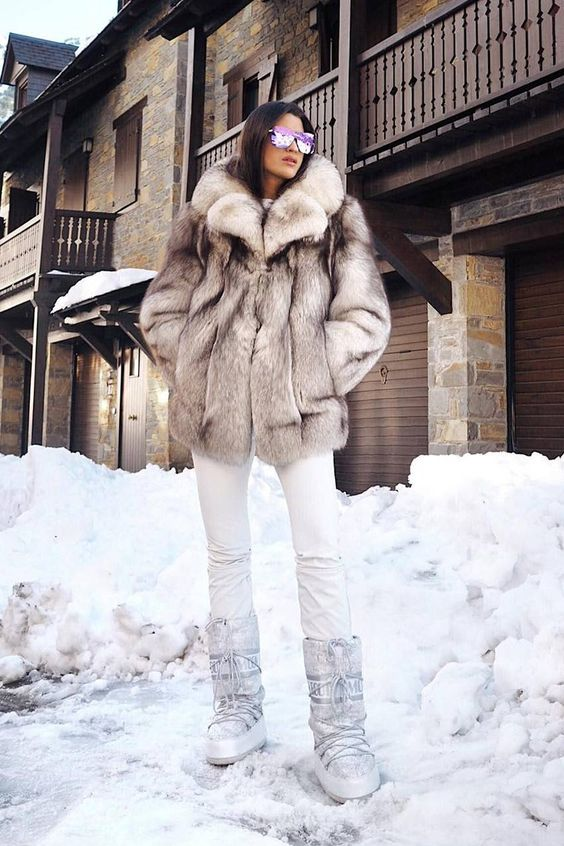 Winter outfits with fur jacket