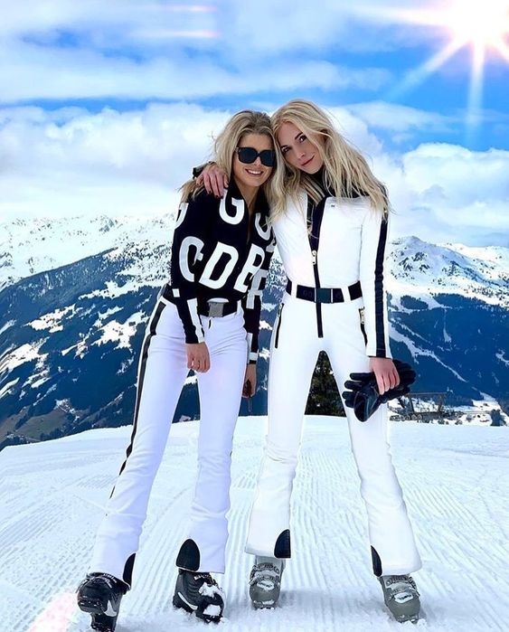 Warm white winter outfits for snow