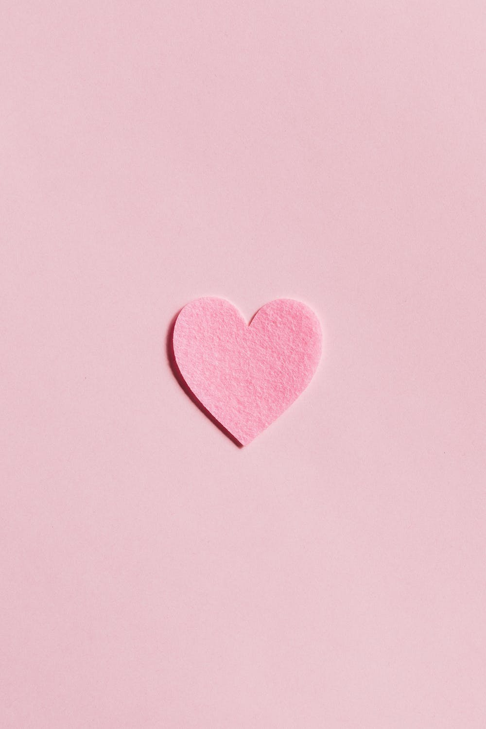 Cute pink iPhone wallpapers with heart