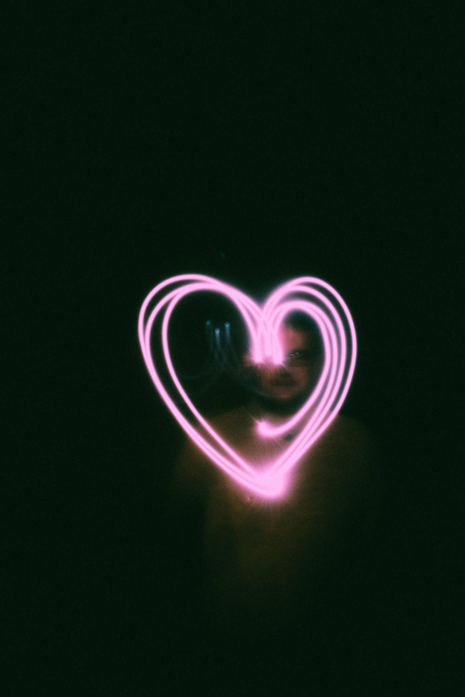 Pink neon heart wallpapers