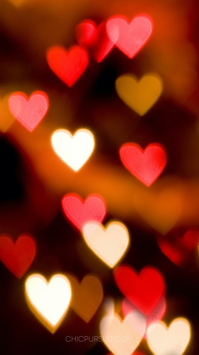 Red heart iphone wallpapers, Cute Valentine's Wallpapers