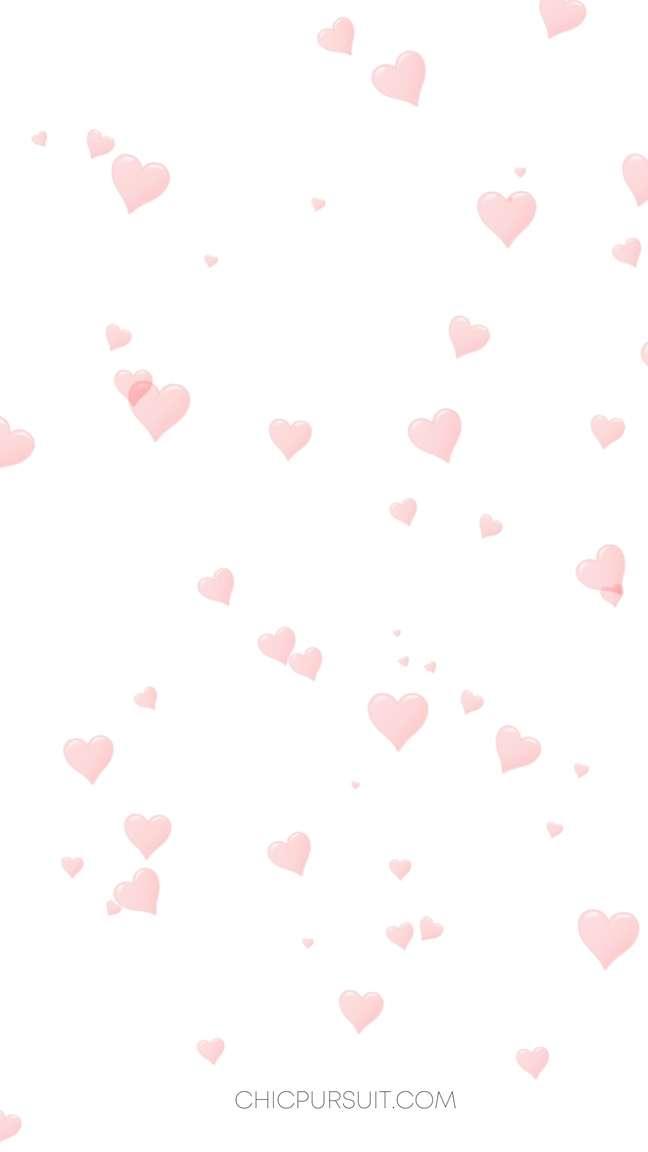 Cute Valentine's Day Wallpapers For iPhone with pink hearts