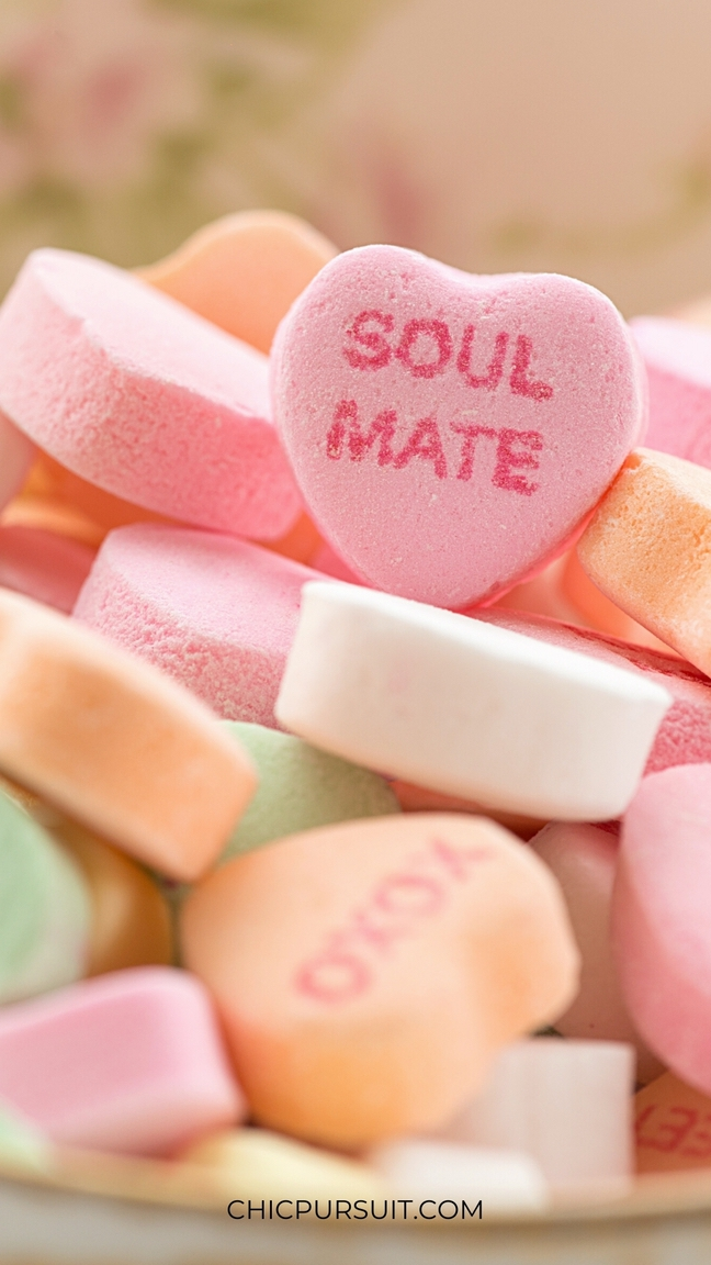 Cute Valentine's Day Wallpapers For iPhone with heart shaped candy