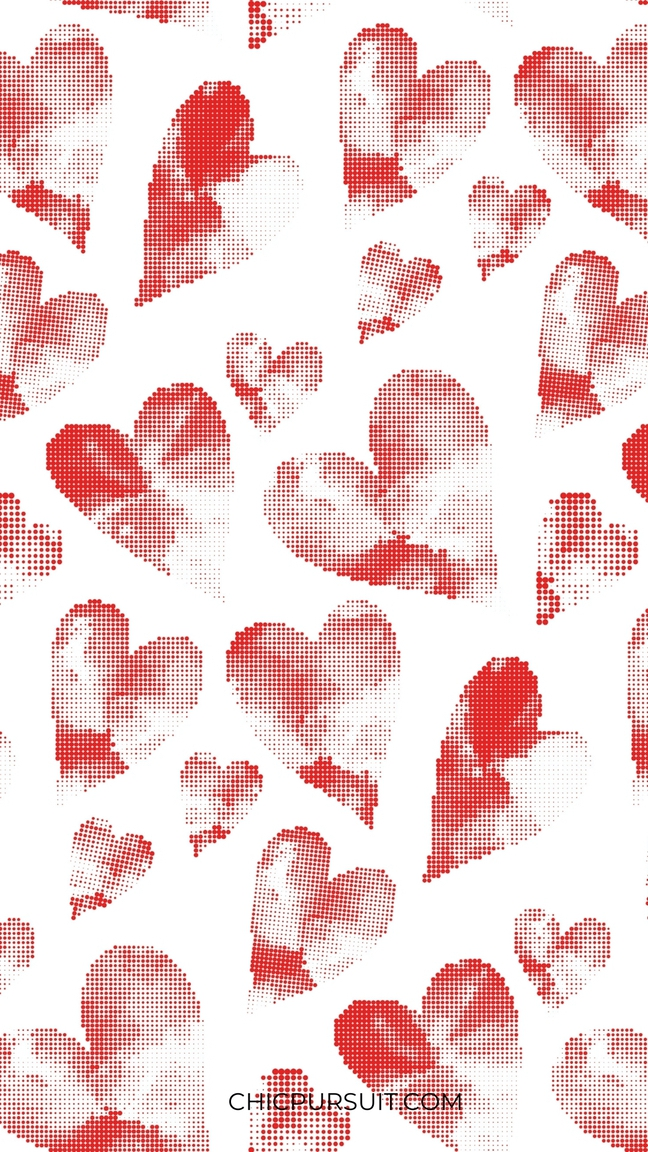 Cute Valentine's Day Wallpapers For iPhone with red hearts