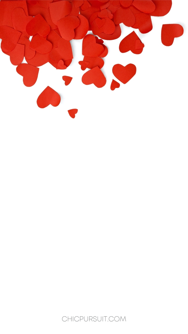 Red hearts iPhone wallpapers