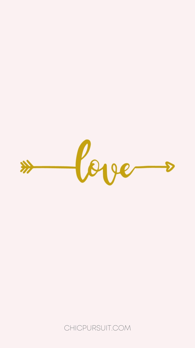 Cute Valentine's Day Wallpapers For iPhone, rose gold wallpapers