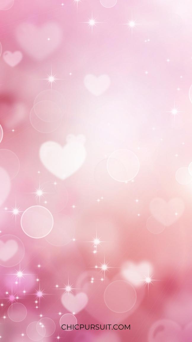Pink hearts iPhone wallpaper
