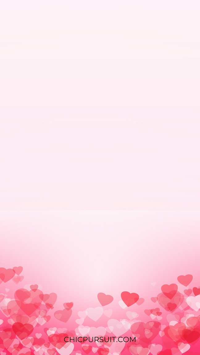 Pink iphone wallpaper with hearts