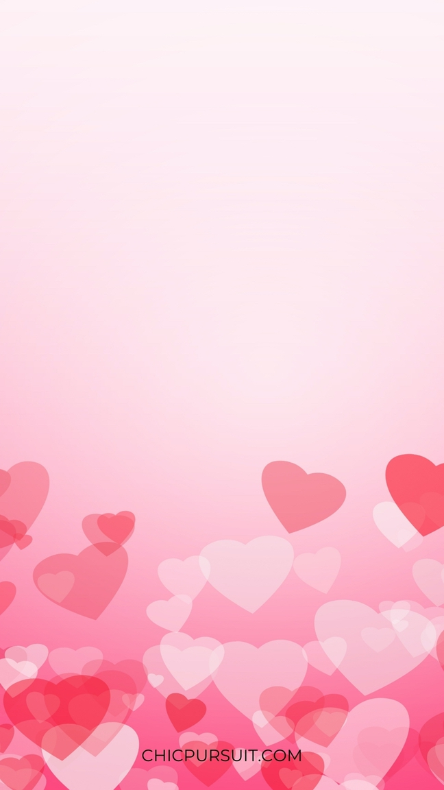Pink wallpaper with hearts