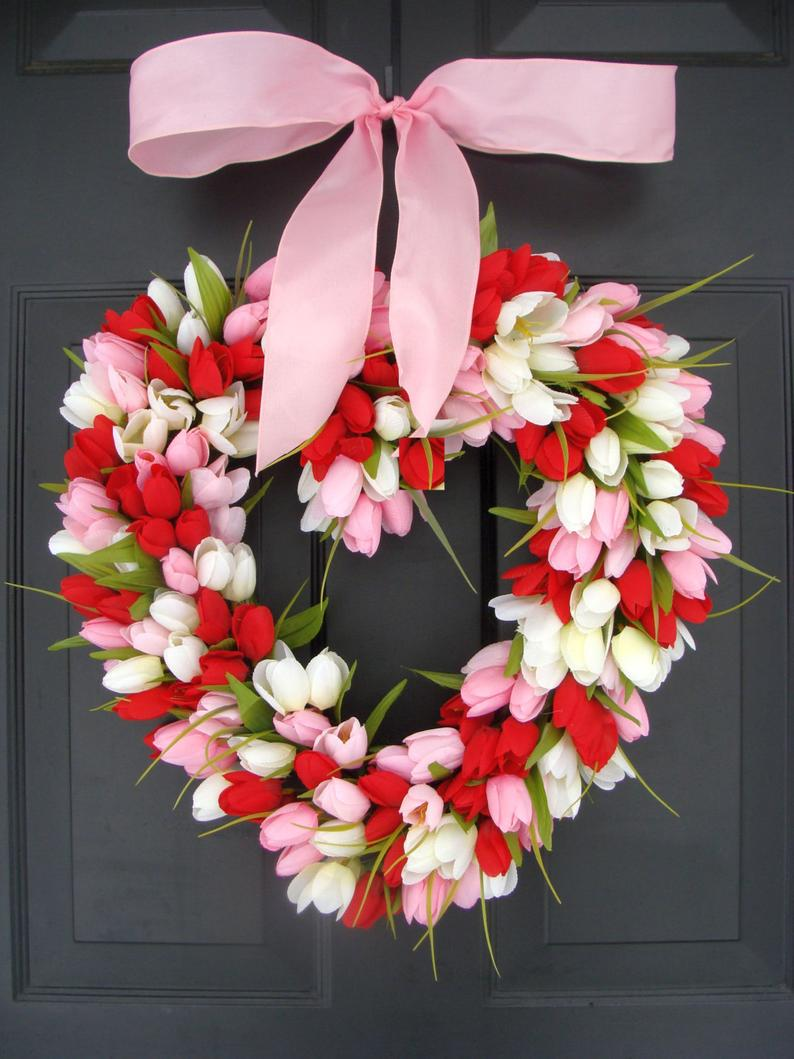 50+ Best Valentine's Day Wreaths For Front Door That You'll Love