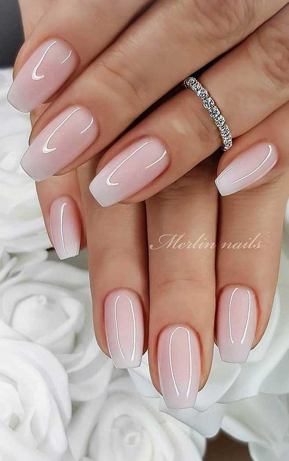 Short acrylic bridal nails