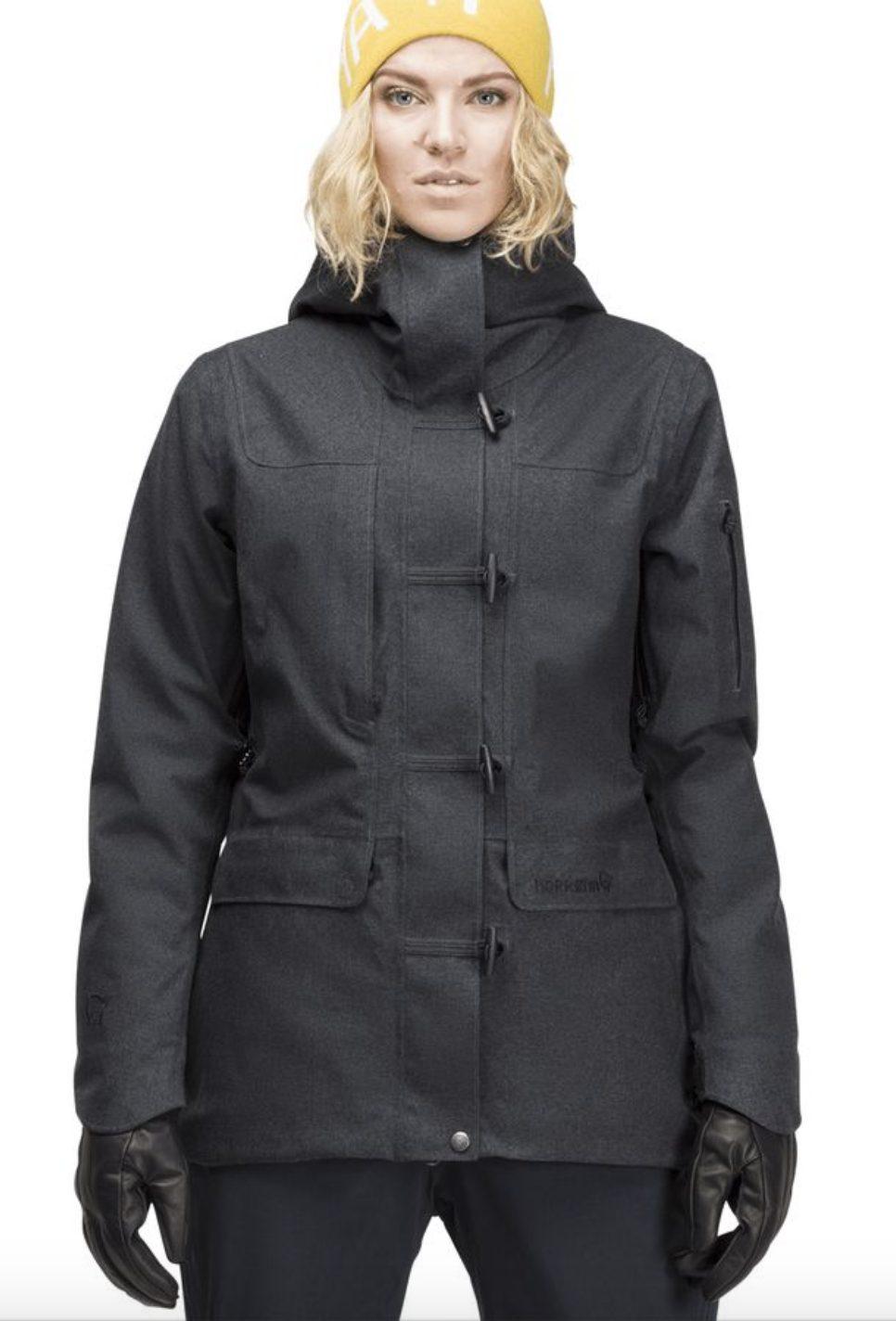 Luxury ski coat for women by Norrona
