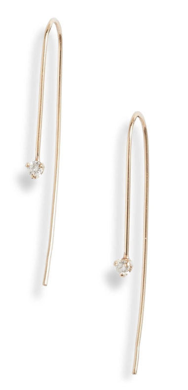 Expensive jewelry gifts for mother-in-law: gold earrings