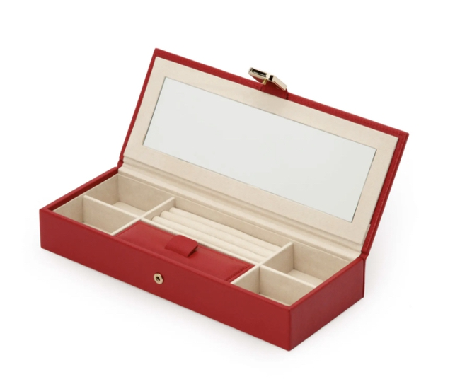 Jewelry gifts for her: red jewelry organizer