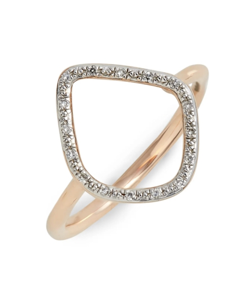 Expensive jewelry gifts for mother-in-law: gold Monica Vinader ring