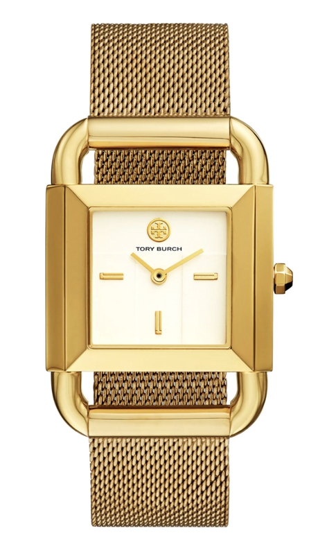 Expensive jewelry gifts for mother-in-law: gold Tory Burch watch