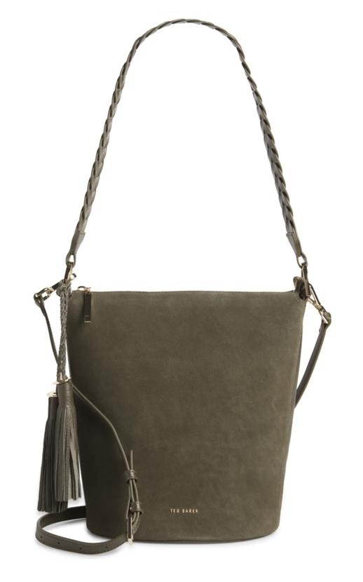 Khaki bucket bag form Ted Baker