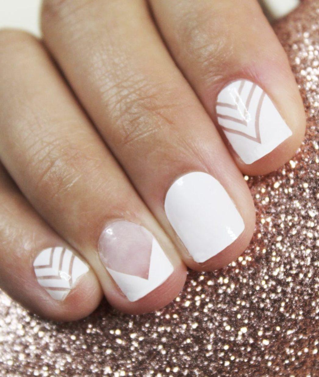 Short white spring nails