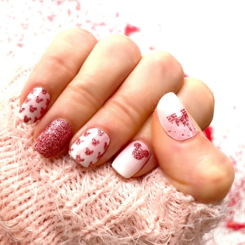 Cute pink Disney Mickey Mouse nail wraps