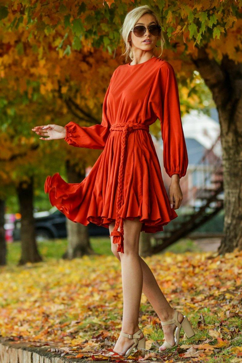 Burnt orange dress for fall
