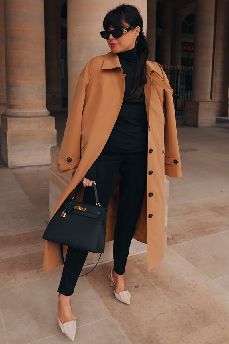Chic fall outfit with trench coat from In The Style