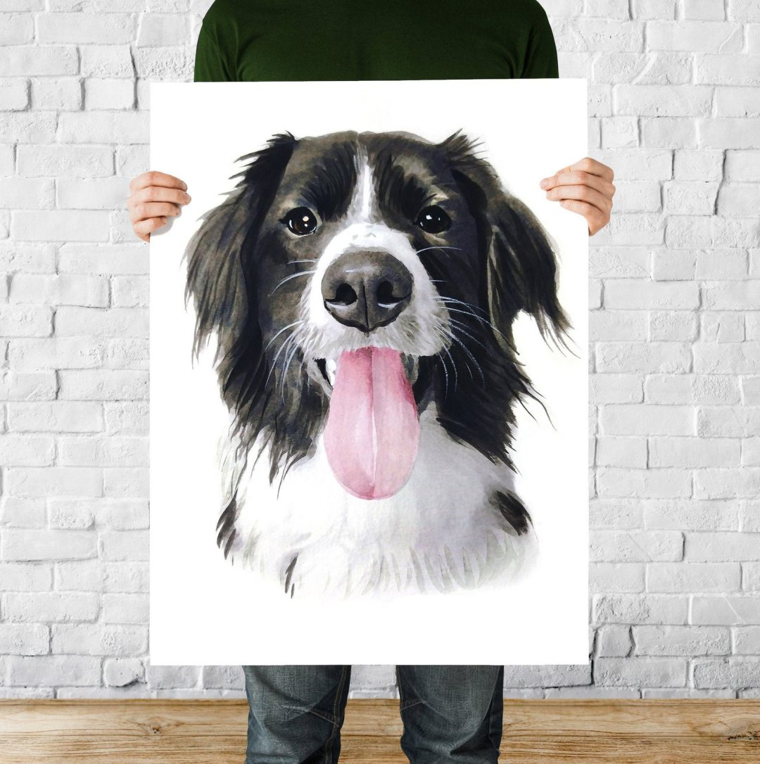 Best gift ideas for dog lovers: customized pet portrait