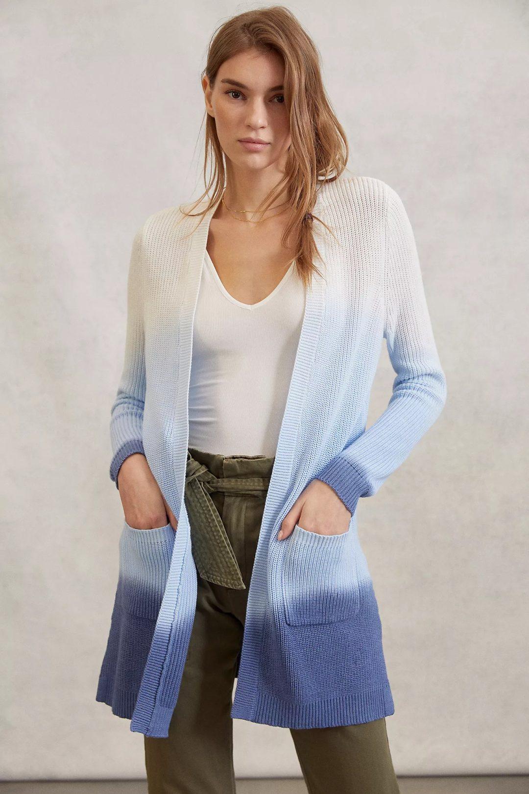 Ombre blue cardigan