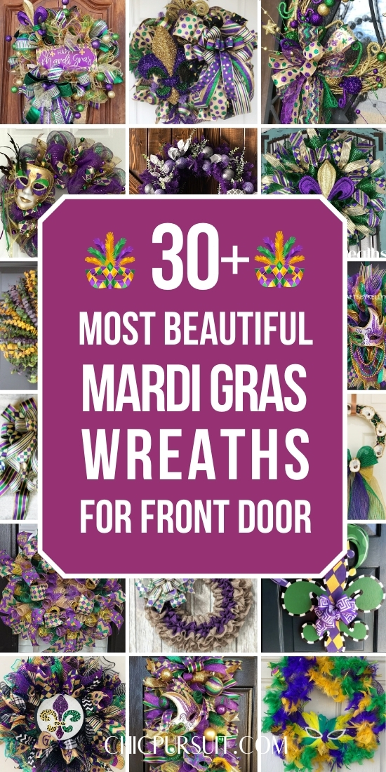 The most beautiful Mardi Gras wreaths and Mardi Gras decorations for outdoors