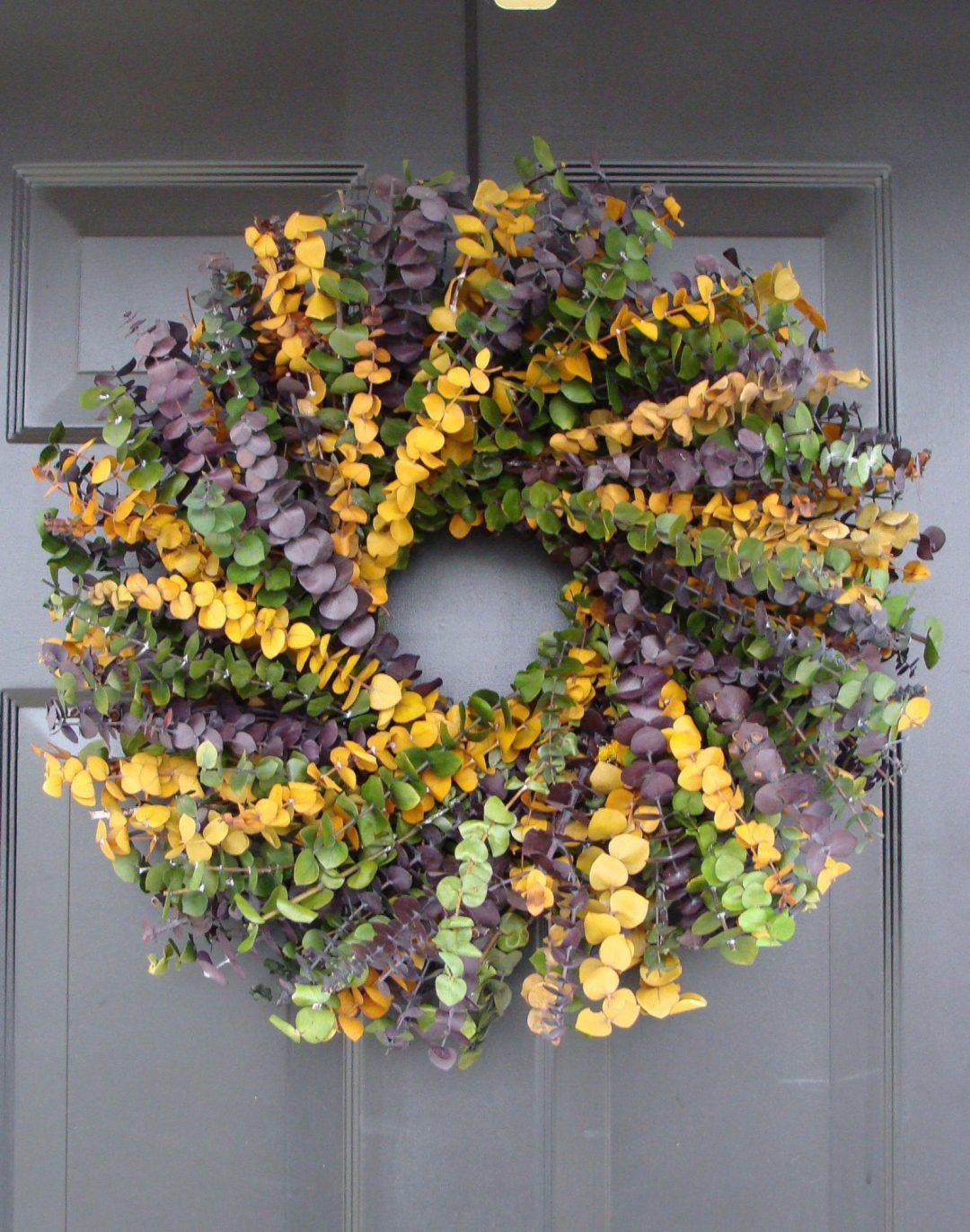 Dried flowers spring wreath