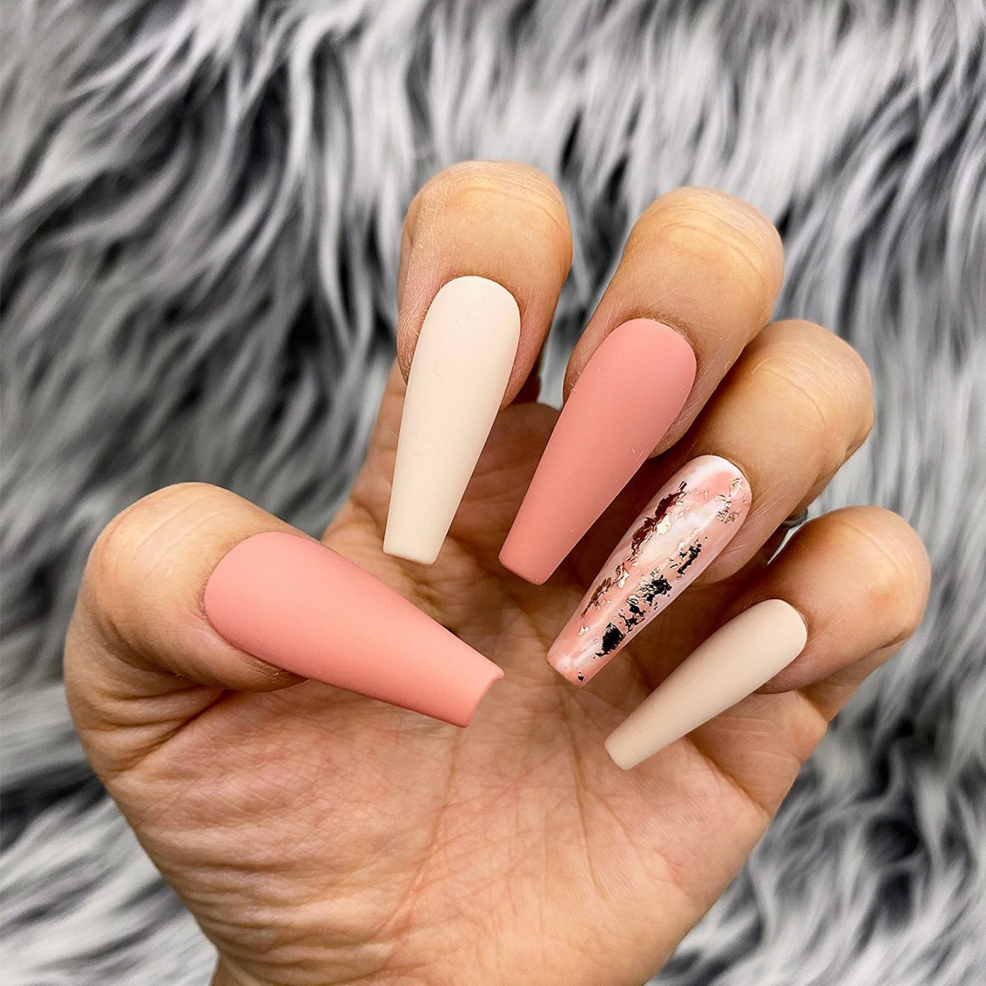 Coral Nude Nails