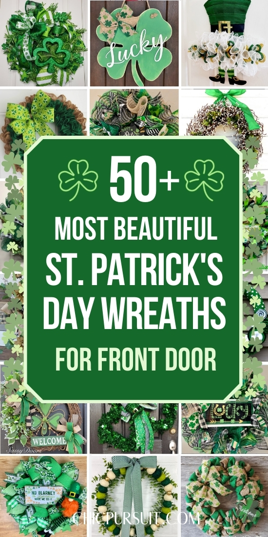The most beautiful St. Patrick's Day wreaths for front door and St. Patrick's Day decor ideas