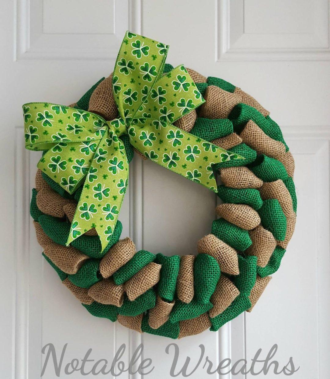 Burlap St. Patrick's Day wreaths