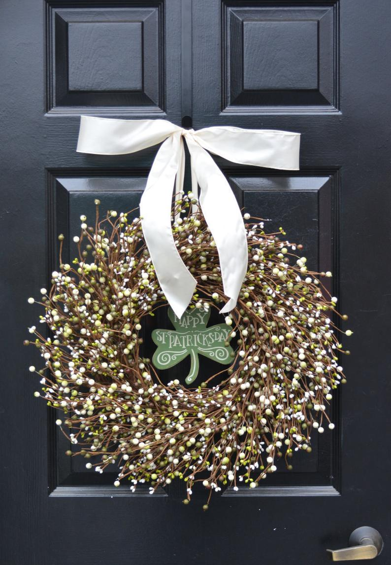 Elegant berry wreath - St. Patrick's Day wreaths