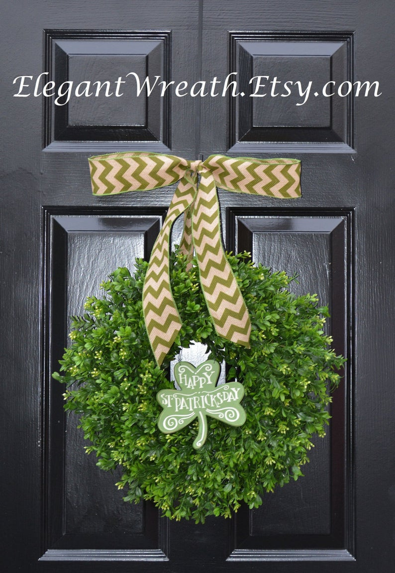 Elegant shamrock St. Patrick's Day wreaths