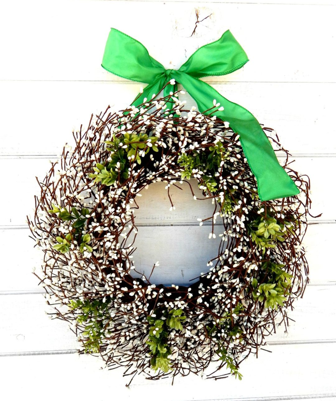 Cute berry wreaths with ribbon