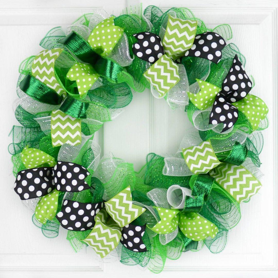 Deco mesh St. Patrick's Day wreaths
