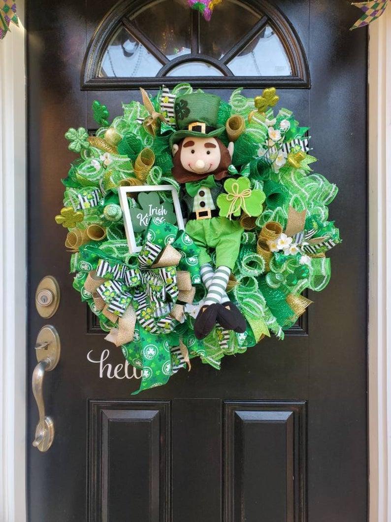 Best deco mesh St. Patrick's Day wreaths