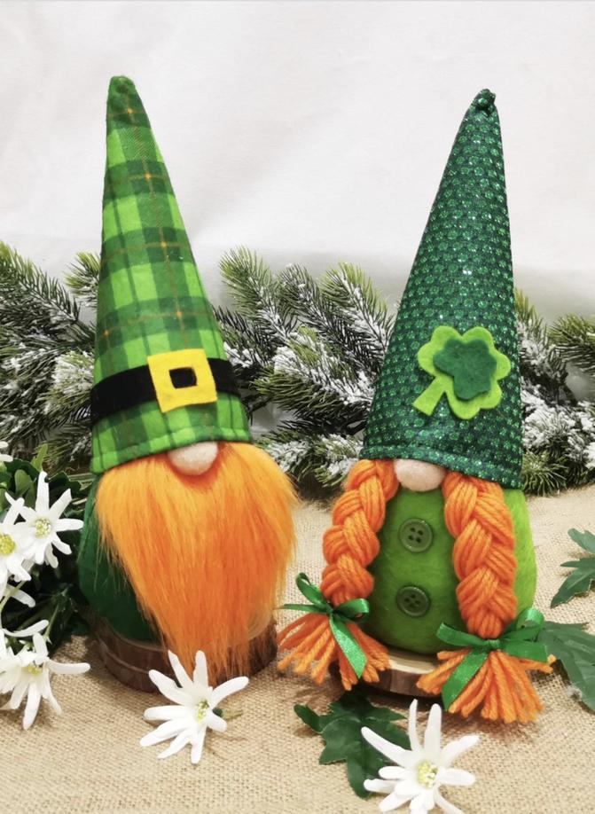 St. Patrick's Day decor ideas - gnomes