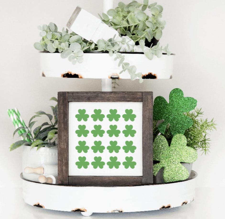 St. Patrick's Day decor ideas - shamrock print