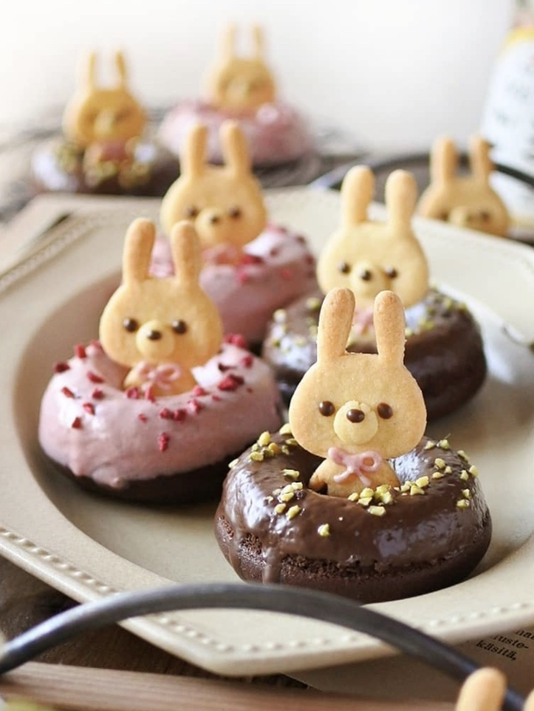 Cute Easter Bunny Donuts