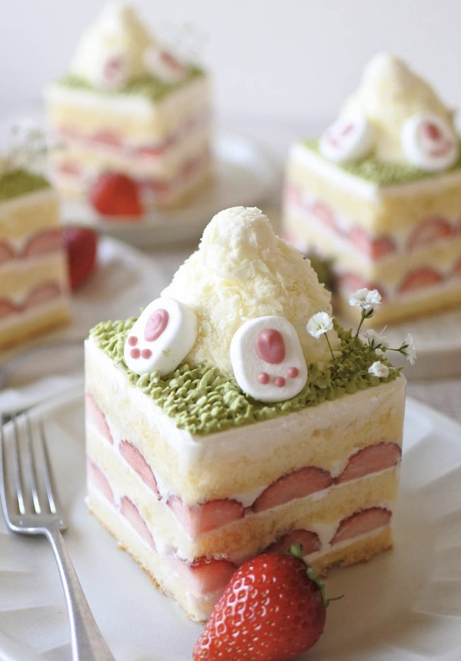 Cute Upside Down Easter Bunny Cake