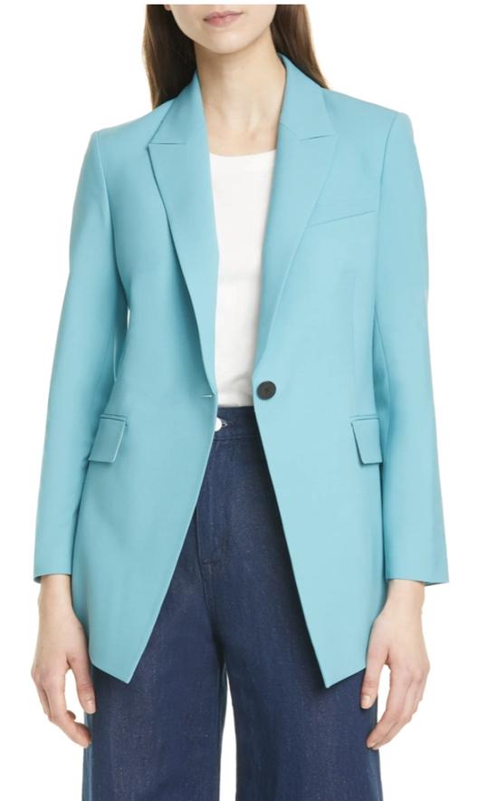 Light blue blazer set perfect for weddings