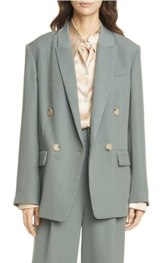 Sage green oversized blazer set