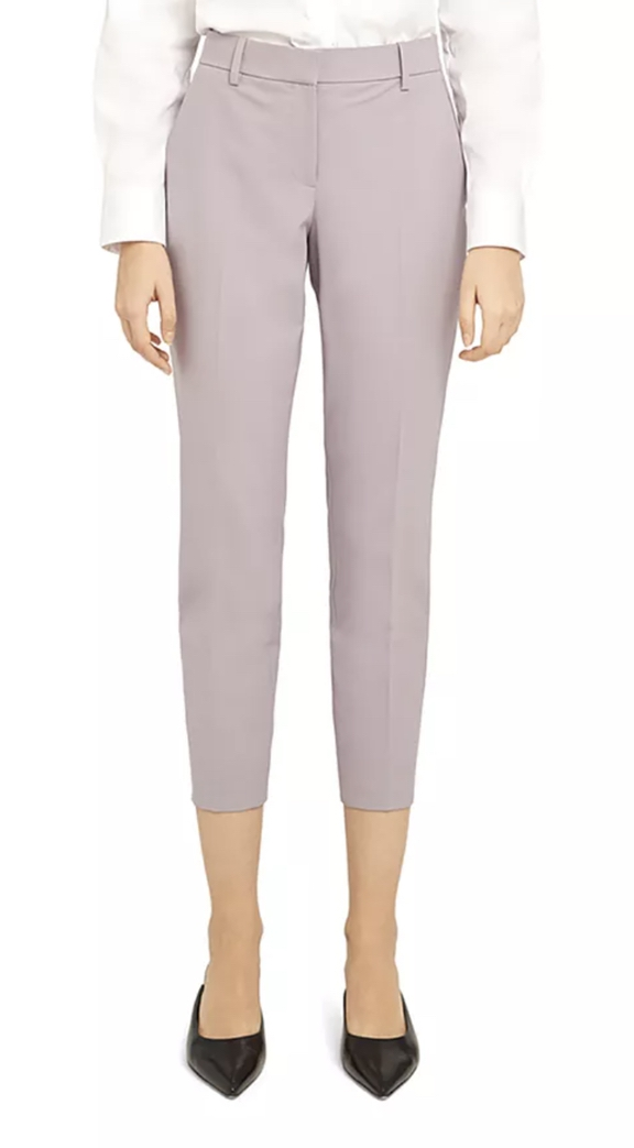 Lilac trouser suits for female wedding guests