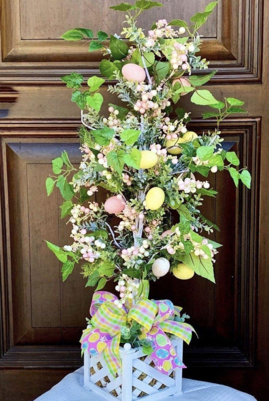 Green Easter tree ideas